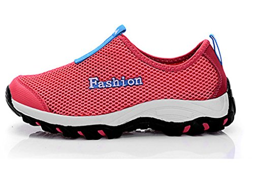 Fangsto Unisex Slip Shoes ONS Mesh Breathable Running Red Adults' Athletic rBFrw