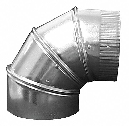 Galvanized Steel 90 Degree Elbow, 14'' Duct Fitting Diameter, 17-1/2'' Duct Fitting Length