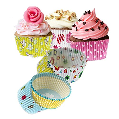 Bakeware & Accessories - 100pcs Mixed Colorful Paper Cake Cup Liners Baking Cupcake Muffin - Paper Cake Cup Making Machine Cupcake Liners Muffin Baking Cups Papers Greaseproof Foil Lined
