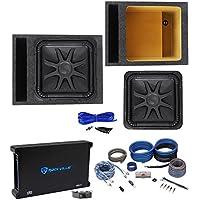 Kicker L7S154 15 Solobaric L7S Car Subwoofer+Vented Box+Mono Amplifier+Amp Kit