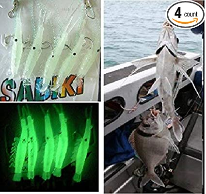 Luminous Sabiki Shrimp Rigs Baits Fishing Lures Catch Hook Glow in the dark