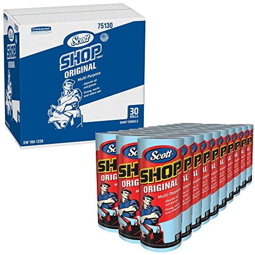 Scott Shop Towels Original (75130), Blue Shop Towels, 1 Roll / Pack, 30 Packs / Case