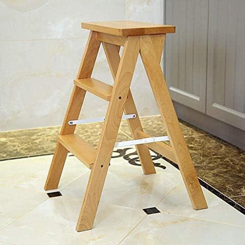 YJLGRYF Escalera plegable de múltiples funciones para el hogar Escalera creativa Escalera de madera maciza Taburete de interior Escalera móvil Escalera ascendente Escalera pequeña Taburete multifuncio: Amazon.es: Electrónica