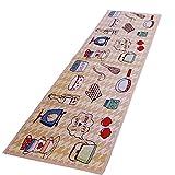 NFS Kitchen Rug Carpet Cotton Elastic Absorbent Non Slip Floor Mat 18''x45''