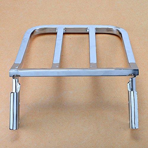 Detachable Chrome Sport Sissy Bar Luggage Rack For Harley Dyna Wide Super Glide FXDB FXDL Softail Heritage Springer FLSTF FLST FLSTC FLSTSC Sportster Iron 883 1200 by Motorgogo (Image #3)