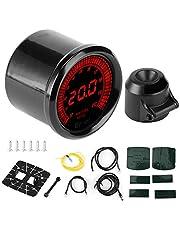 Air/Fuel Ratio Gauge, 52mm 7 Color Pointer Air/Fuel Ratio Gauge Meter Kit Auto Car Instrument