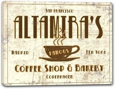 "ALTAMIRA'S Coffee Shop & Bakery Stretched Canvas Print 16"" x 20"""