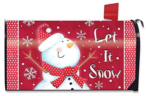 (Briarwood Lane Snow Day Snowman Magnetic Mailbox Cover Winter Primitive)