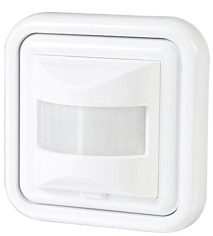 (LA) Detector presencia, sensor de movimiento. Compatible LED. Interruptor automático por movimiento. (Empotrable 160º, 1 unidad)