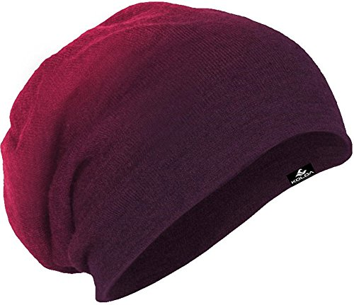 Koloa Surf Slouchy Beanie in Eggplant Dip Dye One Size Fits Most ()