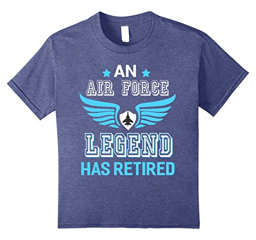 Kids Military Retirement T shirt for Men. Gifts For Air Force Men 8 Heather Blue