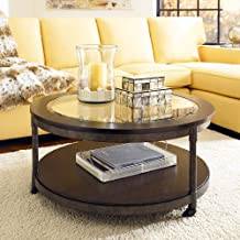 Hammary Structure Round Cocktail Table With Casters