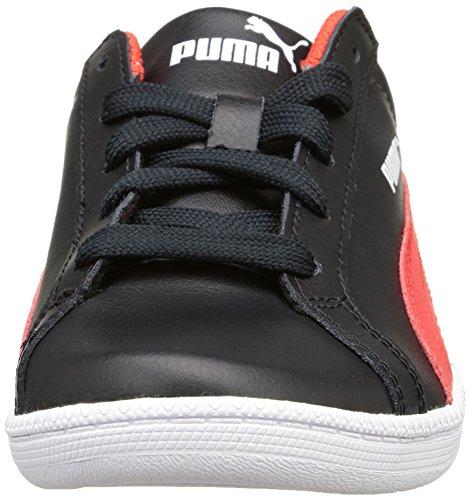 Puma Jungen Smash Fun L Low-Top Noir (Black/High Risk Red)