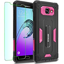 Samsung Galaxy A5 (2016) / A510F Case, INNOVAA Receptacle Armor Case (Not Compatible with Samsung Galaxy A5 (2015) / A500) W/ Free Screen Protector & Touch Screen Stylus Pen - Hot Pink