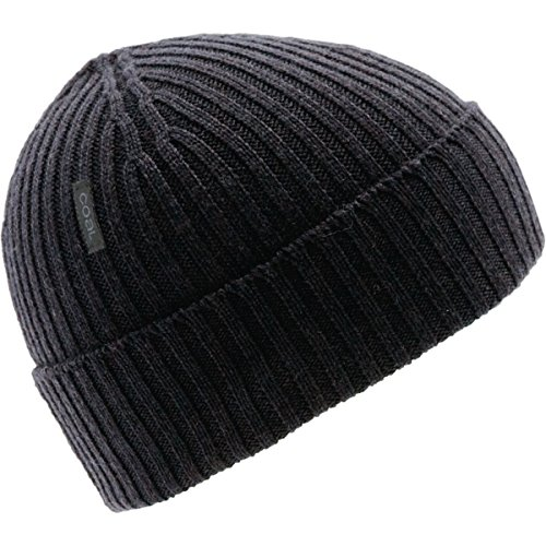 - Coal Men's The Emerson Fine Knit Merino Beanie Hat, Charcoal, One Size