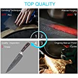 Chef Knife Newild 8 inch professional Kitchen Knife Japanese High Carbon Stainless Steel with Ergonomics Handle,Ultra Sharp ,Wear Resistant, Anti Corrosion,Best Choice for Kitchen and Home