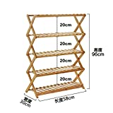 AIDELAI Simple shoe rack Multi - layer dust storage rack Home shoe cabinet Economic shoe rack Solid wood dormitory shoe rack Patio Garden Pergolas