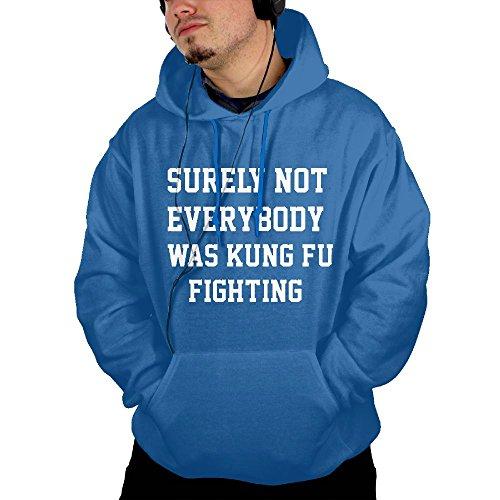 Hot AFNOEKOYE Surely Not Everybody Was Kung Fu Fighting Men's Pullover Hooded Sweatshirt supplier