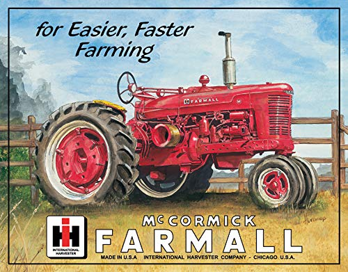 Farmall Tractor Signs - Desperate Enterprises Farmall M Tin Sign, 16