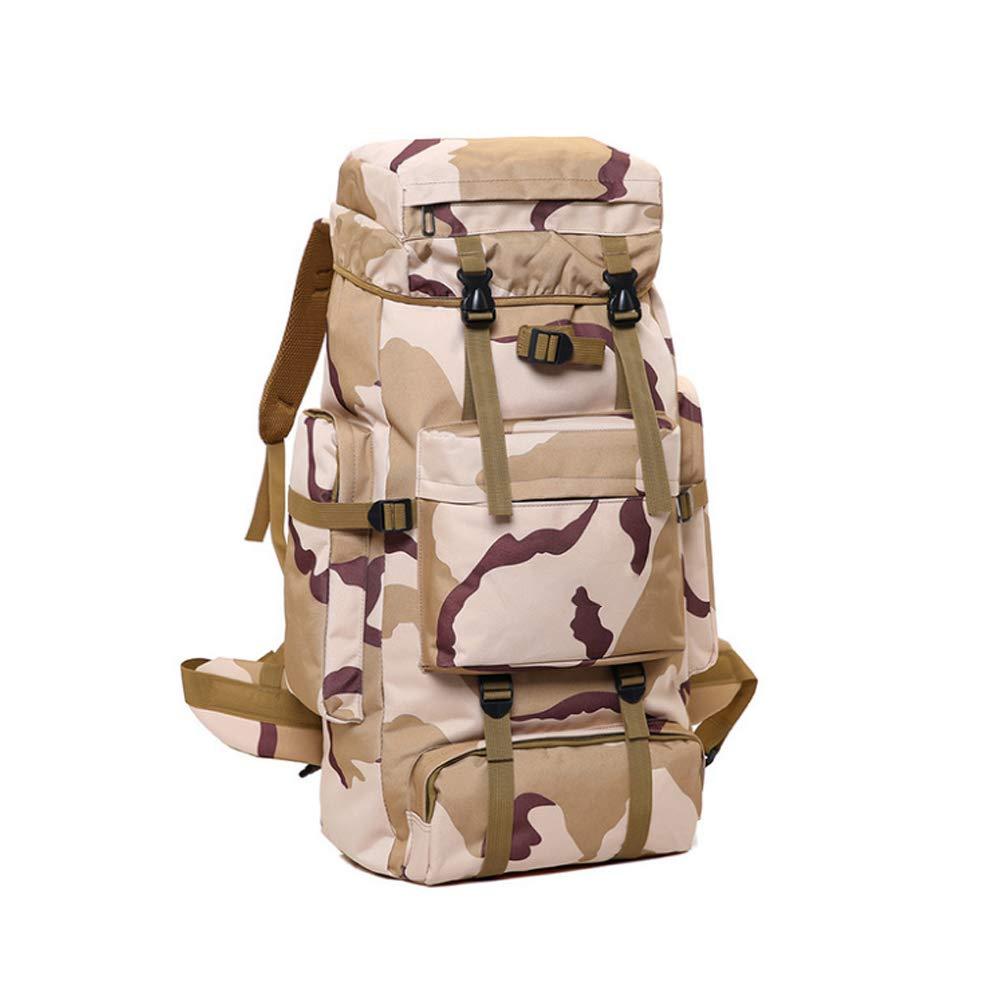 Camouflage -3 70L ZXP6 Grand Sac à Dos Voyage Randonnée Camping Alpinisme Sac à Dos en Plein Air Hommes Femmes Armée Ventilateur Tactique étanche sacages Sac Léger