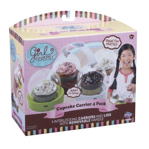 - Jakks Pacific Girl Gourmet Cupcake Pan/ Carrier Holder 4 Count