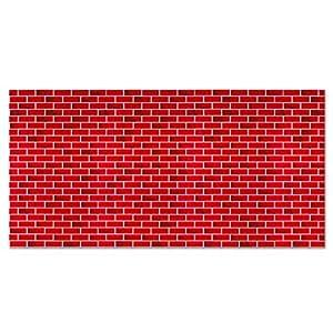 Fadeless Designs Bulletin Board Art Paper, 4-Feet by 50-Feet, Tu-Tone Brick (56475)