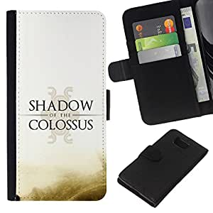 All Phone Most Case / Oferta Especial Cáscara Funda de cuero Monedero Cubierta de proteccion Caso / Wallet Case for Samsung ALPHA G850 // Shadow Of The C0Lossus