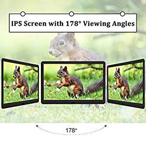 Digital Photo Frame With 32GB SD Card Kenuo 10 Inch 1920×1080 High Resolution 16:9 FHD IPS Screen Digital Picture Frames Auto-Rotate Image Preview Video Calendar Clock Auto On/Off Timer