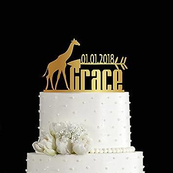 Kiskistonite 1 Geburtstag Kuchen Dekoration Motiv Giraffe Mit Einer
