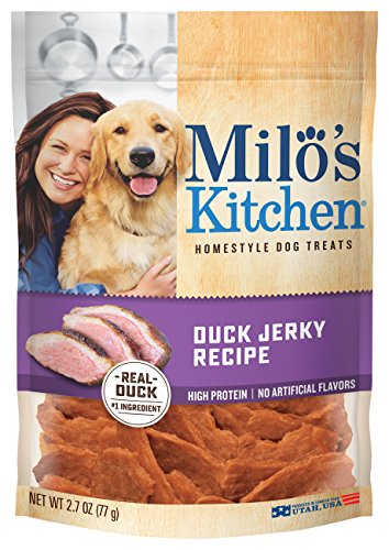 Milo's Kitchen Duck Jerky Recipe Dog Treat, 2.7-Ounce by Milo's Kitchen