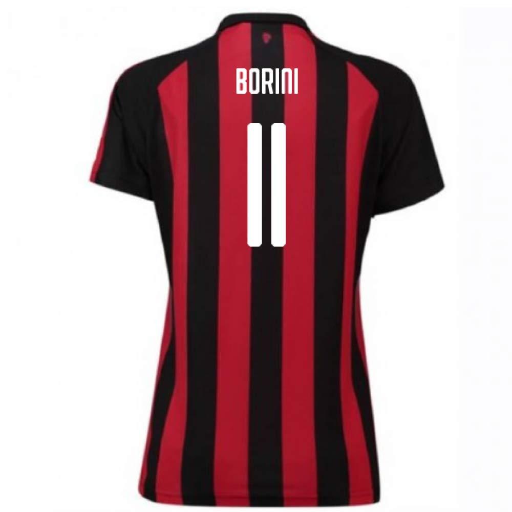 2018-2019 AC Milan Puma Home Damenschuhe Football Soccer T-Shirt Trikot (Fabio Borini 11)