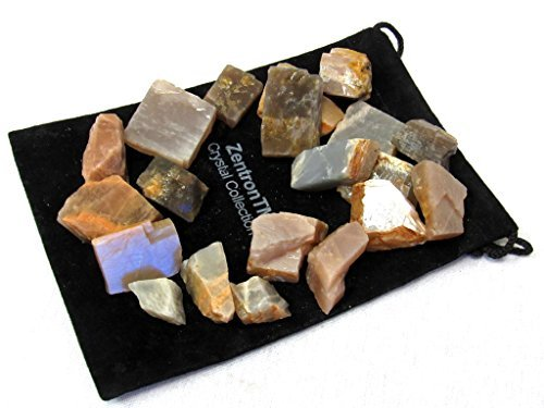 Zentron Crystal Collection: 1 Pound Natural Rough Multi-Colored Moonstone