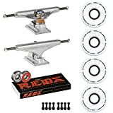 Independent Skateboard Package 129 Trucks Ricta Clouds 52mm 92a Wheels Reds