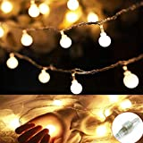 Ball Led String Lights,RcStarry(TM) 33Feet 100 LED Connectable Globe String Lights Waterproof Starry Lights for Outdoor,Home,Garden,Patio,Wedding,Party,Christmas with Memory Function,Warm White