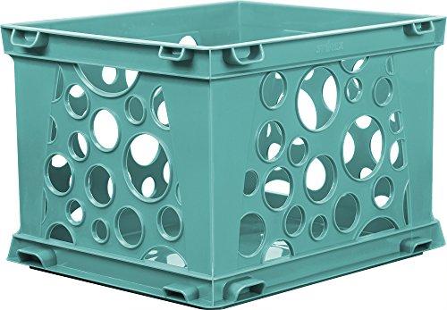 "Storex Large File Crate, 17.25 x 14.25 x 10.5"", Teal, Case of 3 (61670U03C)"