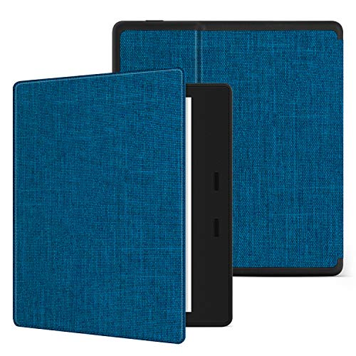 Ayotu Fabric Soft Case for Kindle Oasis(9th Gen, 2017 Release) Honeycomb Version PU case with Auto Wake/Sleep Function,Thinnest and Lightest 7Kindle Oasis Case,Soft Shell Series KO-10 The Blue