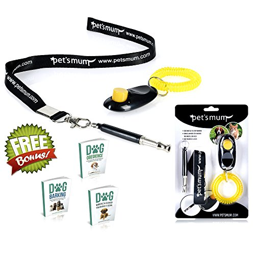 Today's Special - Dog Whistle to Stop Barking and Dog Training Clicker Kit By Pet's Mum Offer Loud Ultrasonic