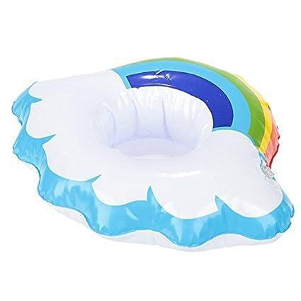 Flotador Para Bebidas Nube y Arco Iris