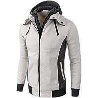Sweat-Shirt Homme, Manadlian Veste Classique Homme Manteaux Décontracté Trench Coat Zippé Blouson Veste Sport