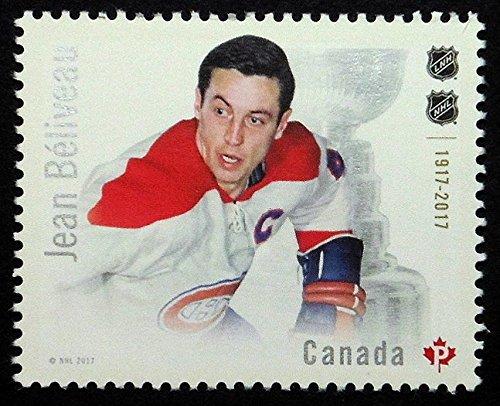 NHL Hockey Player Jean Beliveau -Handmade Framed Postage Stamp Art 21703AM