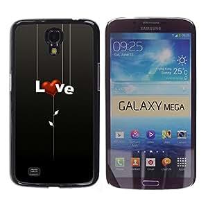 Stuss Case / Funda Carcasa protectora - AMOR CORAZON - Samsung Galaxy Mega 6.3