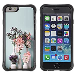 "Hypernova Defender Series TPU protection Cas Case Coque pour Apple Iphone 6 PLUS 5.5 [Arte Flores blancas Floreros""]"