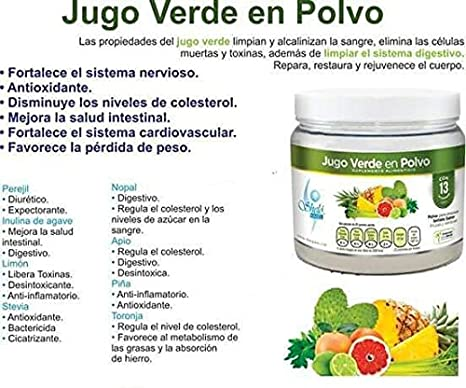 Amazon.com: Jugo Verde en Polvo / Green Juice Powder: Health & Personal Care