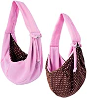 iPrimio Dog and Cat Sling Carrier – Hands Free Reversible Pet Papoose Bag - Soft Pouch and Tote Design – Suitable for...
