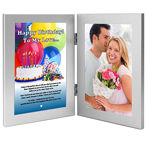 Birthday Gift for Wife, Husband, Girlfriend, Boyfriend- Love Poem Card in Frame