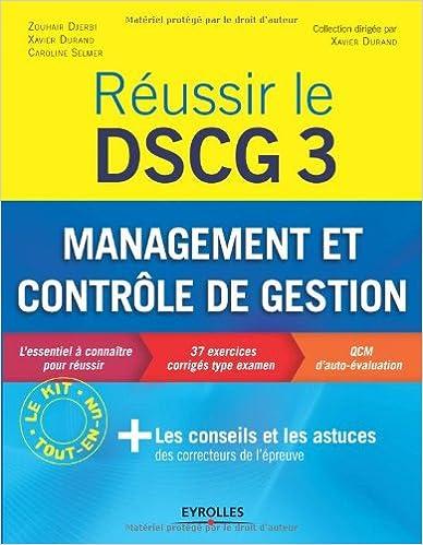 Livre gratuits Réussir le DSCG 3 : Management et contrôle de gestion - L'essentiel à connaître pour réussir pdf epub