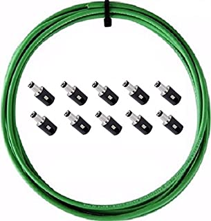 product image for LAVA CABLE Tightrope DC Power Solder Free Kit 10' Cable 10 Plugs + Stripping Tool (Green)