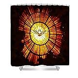 Pixels Shower Curtain (74'' x 71'') ''Vatican Window''