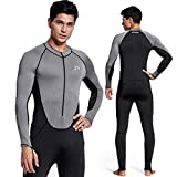 Zionor Full Body Sport Rash Guard Dive Skin Suit for Swimming Snorkeling Diving Surfing with UV Sun Protection Long-Sleeve for Men