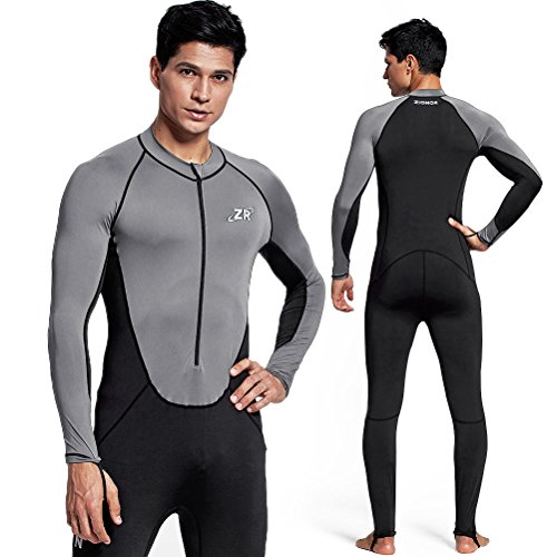 Zionor Full Body Sport Rash Guard Dive Skin Suit for Swimming Snorkeling Diving Surfing with UV Sun Protection Long-Sleeve for Men ()